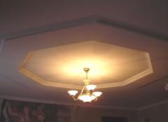 Материалы и особенности конструкции шестигранного потолка