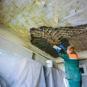 Особенности и ремонт глиняного потолка