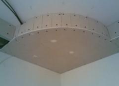 Полукруглые потолки из гипсокартона — как их делают?