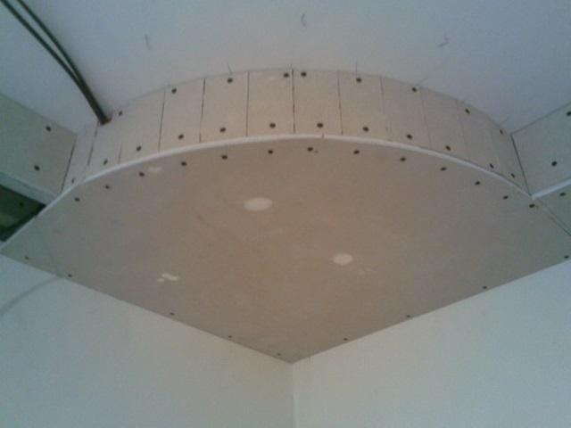 Как сделать потолок полукруглым из гипсокартона своими руками