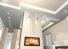Варианты оформления и основные требования к отделке потолка в каминной комнате