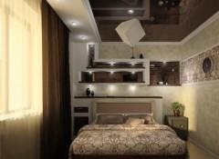 Преимущества и недостатки шоколадных потолков в спальне