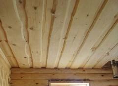 Как устроен настильный потолок в бане?