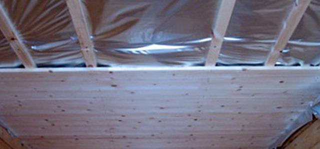 Потолок на баню видео