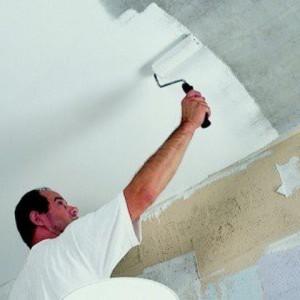 Бетонный потолок — как его красить?