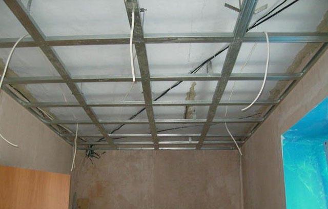 Как сделать двойной потолок из гипсокартона