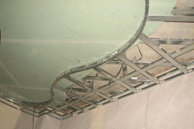 Двойной потолок из гипоскартона — как его сделать?