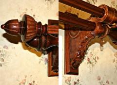 Виды и особенности деревянных двухрядных карнизов для штор