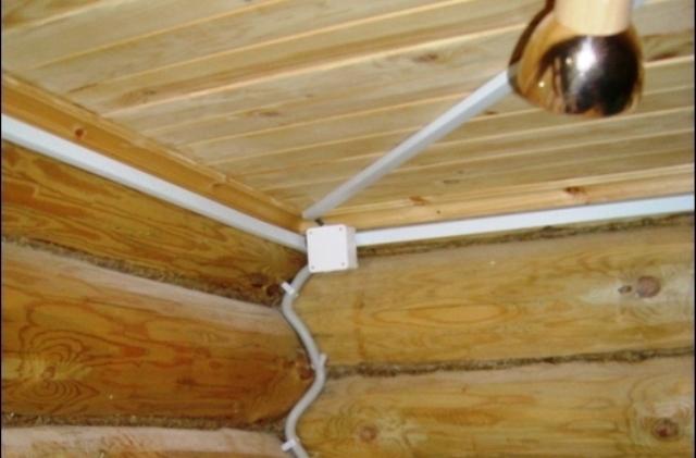 Провести электропроводку в бане