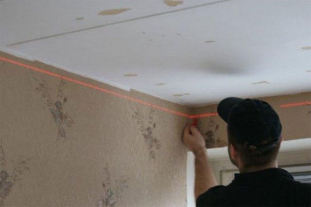 Как гипсокартоном выровнять потолок