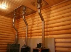 Особенности прохода дымохода через потолок