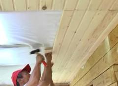 Как своими руками сделать потолок из евровагонки?