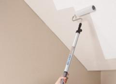 Как без разводов и полос покрасить потолок?