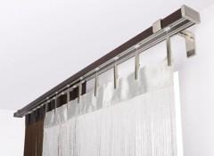 Виды и особенности настенных алюминиевых карнизов для штор