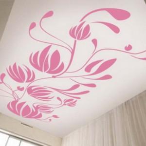 Варианты нанесения декоративного рисунка на потолок