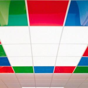 Потолок из поликарбоната с подсветкой