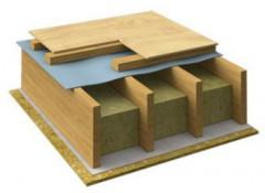 Устройство по деревянным балкам межэтажного перекрытия