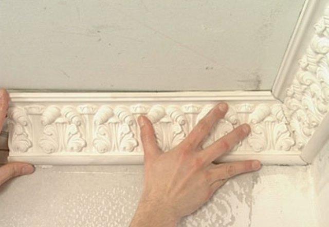 Плинтус потолочный из гипса своими руками 47