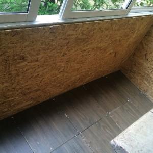 Порядок отделки осб плитой балкона