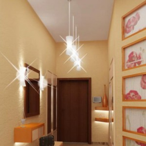 Варианты настенных светильников в прихожей