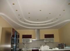 Особенности применения на кухне трехуровневых потолков на кухне