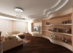 Материалы и примеры применения трехуровневых потолков в зале