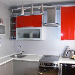 Оформление в стиле минимализм небольшой кухни