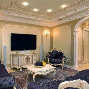 Особенности и детали оформления интерьера гостиной в стиле барокко