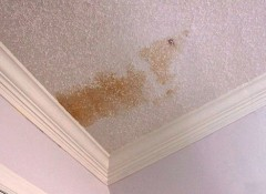 Ржавое пятно на потолке — как его убрать?