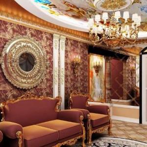 Использование в интерьере стиля барокко