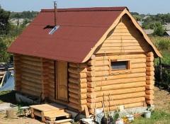 Крыша бани — чем и как утеплять?