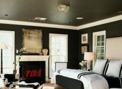Варианты и преимущества черного потолка в комнате