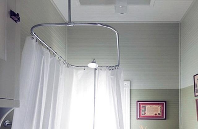 Держатель для ванной шторки угловой своими руками 10