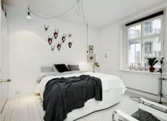 Использование в интерьере спальни скандинавского стиля