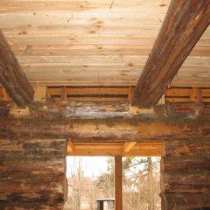 Укрепление деревянных балок перекрытия