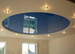 Варианты и особенности создания круглых натяжных потолков