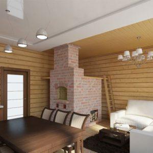 Особенности, плюсы и минусы применение натяжных потолков в доме из бруса