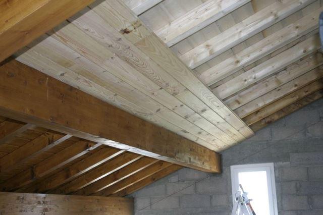 Потолок из имитации бруса своими руками 89