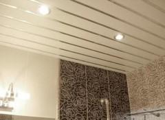 Особенности и порядок монтажа реечного и панельного потолка в санузлах