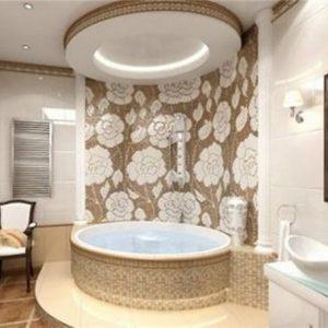 Варианты и примеры современных потолков в ванной