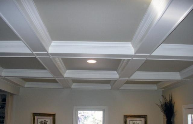 Как своими руками сделать кессонный потолок из гипсокартона?
