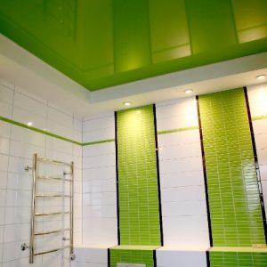 Матовый или глянец — какой натяжной потолок лучше в санузле?
