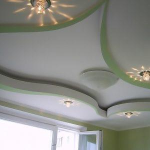 Особенности и примеры подвесных потолков из гипрока