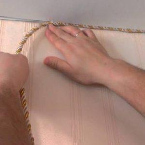 Декоративный шнур для натяжных потолков — как его крепить?