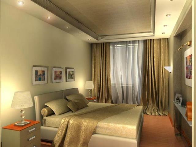 Потолки из гипсокартона для спальни (80) 84