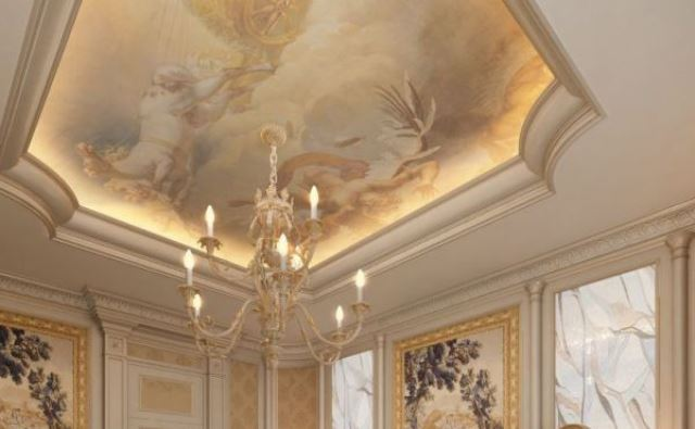 Натяжные потолки в стиле рококо