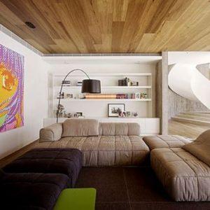 Особенности применения и монтаж паркетной доски на потолок