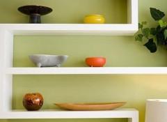 Преимущества и виды полок из гипсокартона на кухне