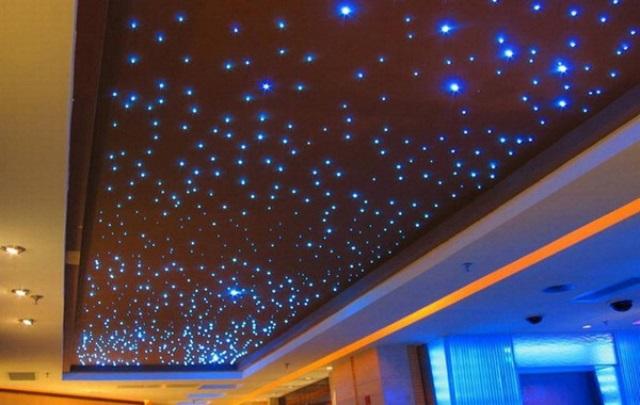 Натяжной потолок звёздное небо своими руками 15