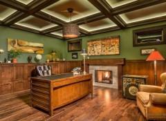 Варианты исполнения потолков в домашнем кабинете